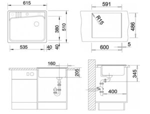 Мойка Blanco Kivo 6 размеры