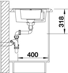 Мойка Blanco Metra 6S Compact размеры