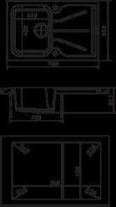 Мойка Florentina Гаттинара 780 размеры