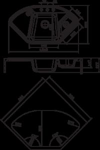Мойка Florentina Капри размеры