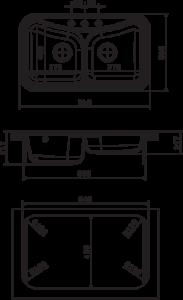 Мойка Florentina Крит 860 размеры