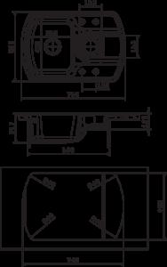 Мойка Florentina Нире 760К размеры
