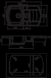 Мойка Florentina Нире 860К размеры