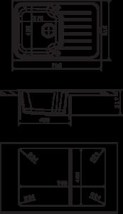 Мойка Florentina Таис 760 размеры