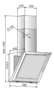 Вытяжка Гранат Glass S4