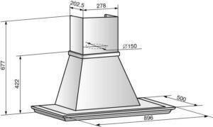 Вытяжка Elikor Пирамида
