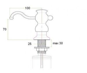Дозатор Zorg ZR-25 Steel нержавеющая сталь