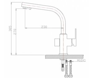 Смеситель на кухню Zorg ZR 311 YF песок