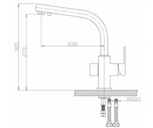 Смеситель на кухню Zorg ZR 311 YF чёрный металл
