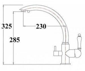 Смеситель на кухню Zorg ZR 314 YF-33 серый бежевый