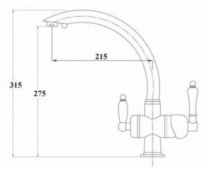 Смеситель на кухню Zorg ZR 327 YF броза чёрный металл