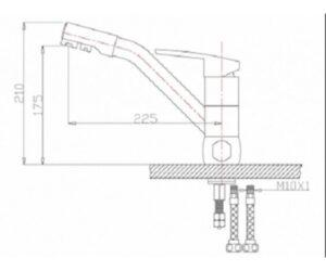 Смеситель на кухню Zorg ZR 400 KF-12 антрацит