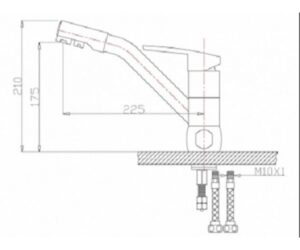 Смеситель на кухню Zorg ZR 400 KF-12 кварц