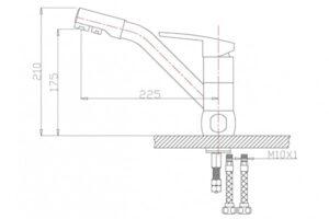 Смеситель на кухню Zorg ZR 400 KF-12 White