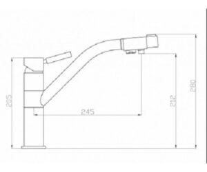 Смеситель на кухню Zorg ZR 401 KF черный металлик